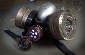 Steampunk Respirator Light by pinochioO-5