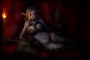 Sylvanas resting by MissNoSerious