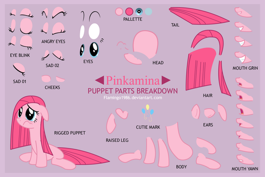 Pinkamina Puppet Sheet by FlamingoRich