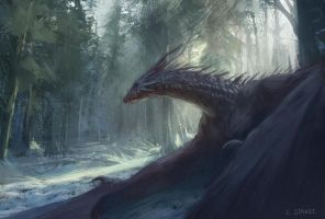 Dragon of Arogarth Forest by AlcoholicHamster