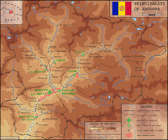 Andorra physical map by Strassenlaterne