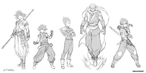 Z fighters redesigns by kasai