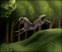 A Wolf In The Trees by 11IceDragon11