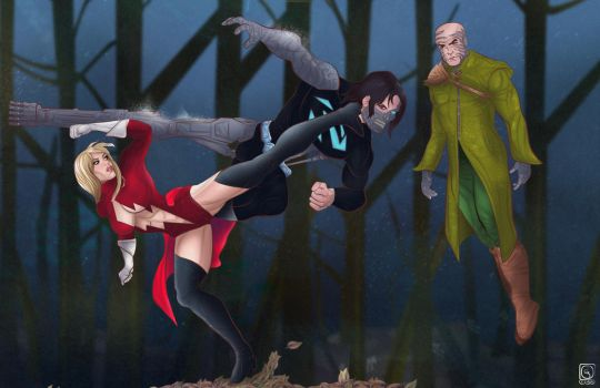 Ms Power vs Cyber Soldier and Doctor Lex by jackcrowder