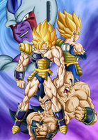 Coola vs Saiyajins by Leackim7891