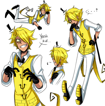 Human!Bill Cipher (Adult Ver.) by cjwolf207
