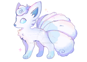 Alolan Vulpix by soyawing