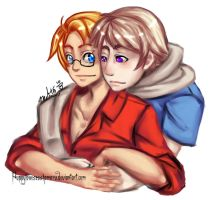 america and russia by puppylovesesshomaru