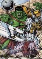 Planet Hulk VS Silver Savage by tonyperna