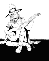 Soerl playing his Lute by TheCatlady