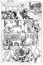 Catch me, Page 4, inks. by Hawkmac