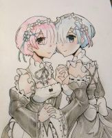 Ram and Rem by BananaConductor