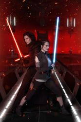 Kylo Ren and Rey by Shamrock-Cosplay