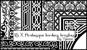Arabesque borders brushes by visualjenna