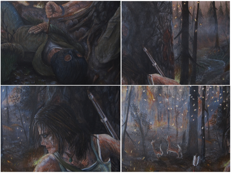 Tomb Raider 2013 - Acrylic Painting #6 - close-ups by CurlyWurly808