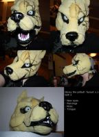 Glowy the pitbull - fursuit WIP by casualGEE