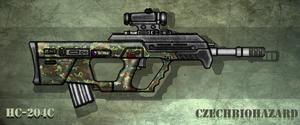 Fictional Firearm: HC-204c Assault Rifle by CzechBiohazard