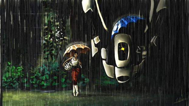 My Neighbor GLaDOS by Mewtheed