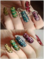 Stained Glass Nail Art by Silyah246