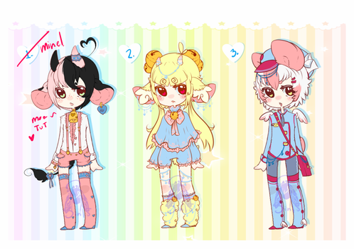 kemonomimi adoptables -CLOSED- by SinfulWhispers15