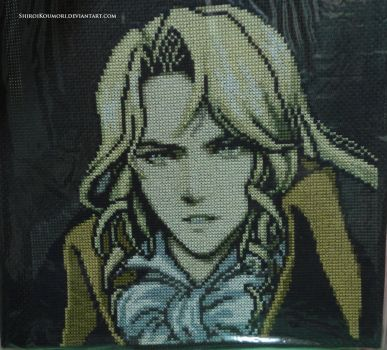 Alucard (Dawn of Sorrow) Cross Stitch by ShiroiKoumori