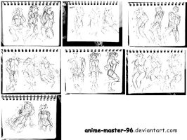 1000 Gesture Drawing Challenge - 221 to 240 by anime-master-96