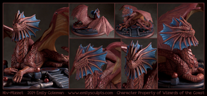 Commission : Niv-Mizzet - Details by emilySculpts