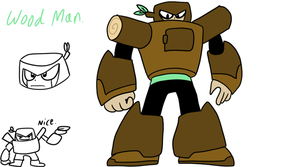 Mega Man Supreme - Wood Man by Techno-the-cyborg