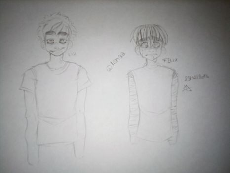 FELIX AND LIZ - QUICK DOODLE FROM CLASS by l2naa