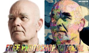 Posterized Abstract Portrait Free Tutorial by Andrei-Oprinca