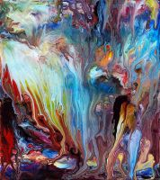 Abstract Fluid Painting 60 by Mark-Chadwick