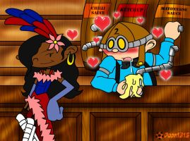 KND: If Abby as Saloon Girl by RoseMary1315