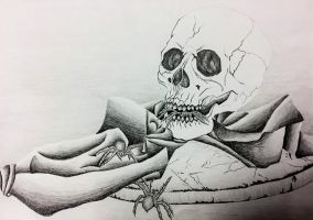 The Skull and the Spiders by FantasyArt99