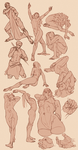 gesture sketches by faios