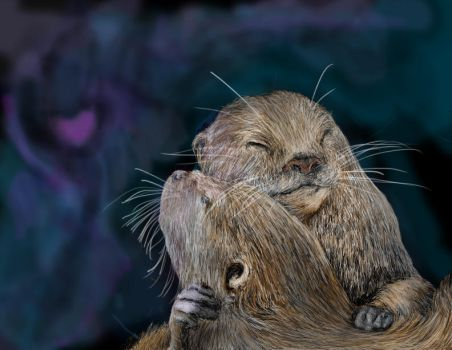 Otter Love by cozzybob