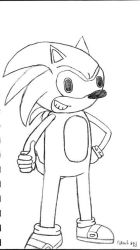 Sonic sketch... thumbs up. by scooterkid34