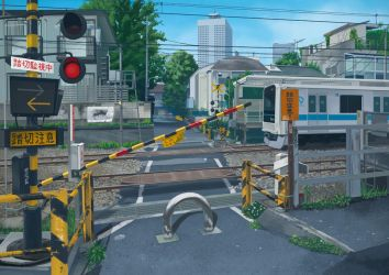 Railroad Crossing 1 by kskb
