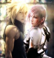 .:Together:. CloudxLightning by XxClaireStrifexX