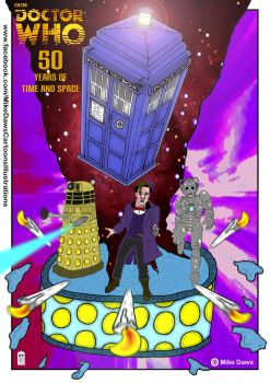 Doctor Who - 50th Anniversary Poster by mikedaws