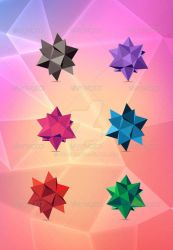 Abstract Polygon Flowers by bd670816