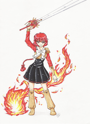 Hikaru Magic Knight Rayearth by TriaElf9