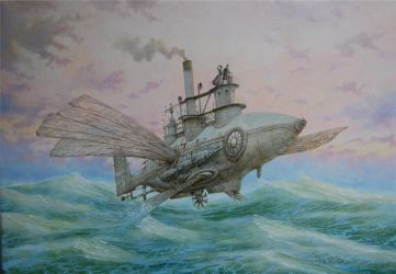 Flying fish by voitv