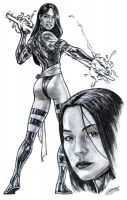 Psylocke Reacts by DeanZachary