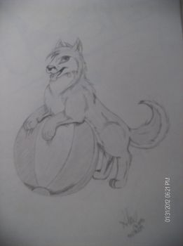 An other wolf... by Anyriell