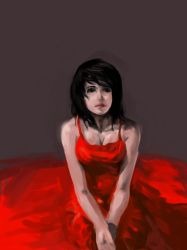 Girl in red by kclub