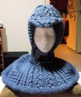 Loom Knitted Cabled Hooded Cowl by ScarlettRoyale