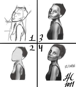 Step by Step Photo study by Honeycomb1011