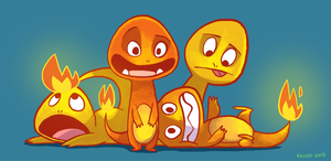 Charmanders by sketchinthoughts