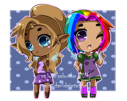 Fay and Karen [Commission] by Sparkru-chan