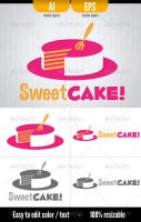 Sweet Cake - Logo Template by doghead
